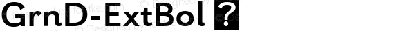 GrnD-ExtBol ☞ Version 1.000;com.myfonts.insigne.grenale-2.ext-bold.wfkit2.457T