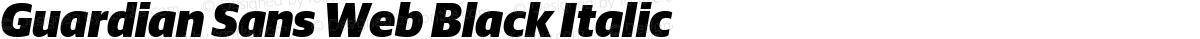 Guardian Sans Web Black Italic