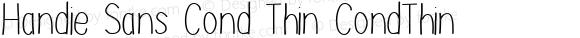 Handie Sans Cond Thin CondThin