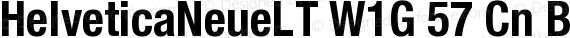 HelveticaNeueLT W1G 57 Cn Bold preview image