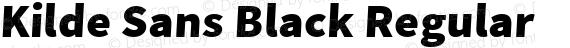 Kilde Sans Black Regular preview image