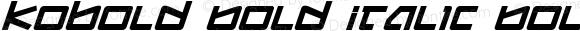 Kobold Bold Italic Bold Italic