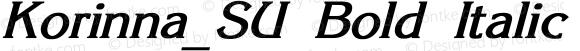 Korinna_SU Bold Italic