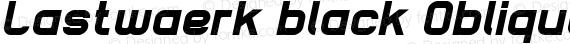Lastwaerk black Oblique preview image