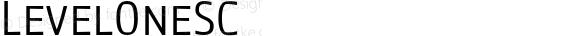 LevelOneSC ☞ Version 1.000;com.myfonts.cv-type.level.one-sc.wfkit2.3zev