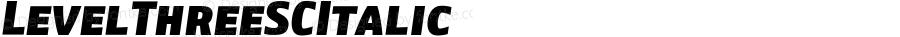 LevelThreeSCItalic ☞ Version 1.000;com.myfonts.cv-type.level.three-sc-ital.wfkit2.3zex