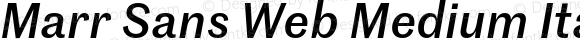 Marr Sans Web Medium Italic
