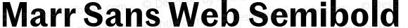 Marr Sans Web Semibold