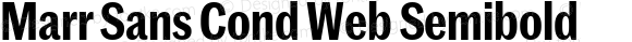 Marr Sans Cond Web Semibold
