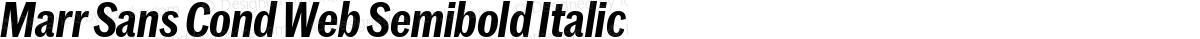 Marr Sans Cond Web Semibold Italic