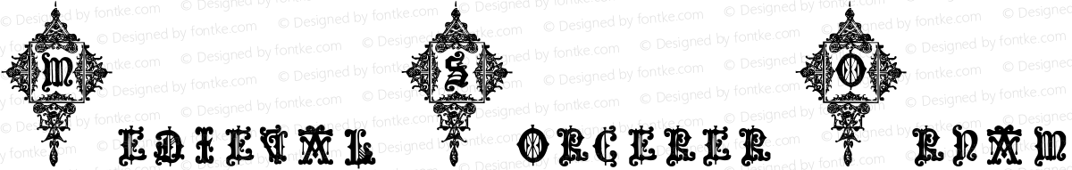 Medieval Sorcerer Ornamental Medieval Sorcerer Ornamental