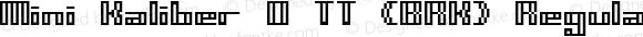 Mini Kaliber O TT -BRK-