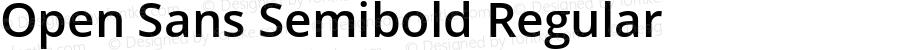 Open Sans Semibold Regular Version 1.10