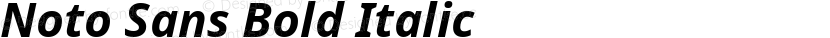 Noto Sans Bold Italic Preview Image