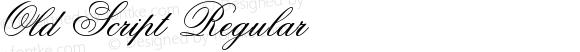 Old Script Regular Macromedia Fontographer 4.1