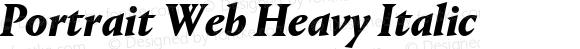 Portrait Web Heavy Italic
