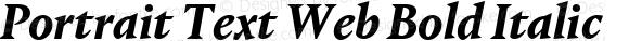 Portrait Text Web Bold Italic