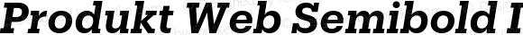Produkt Web Semibold Italic