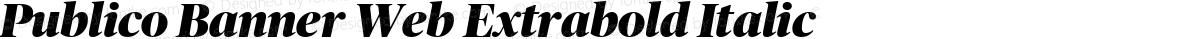Publico Banner Web Extrabold Italic