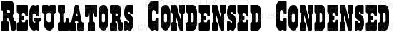 Regulators Condensed Condensed