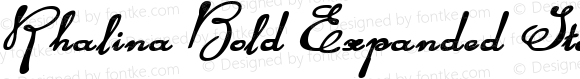 Rhalina Bold Expanded Italic BoldExpandedItalic