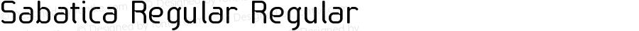 Sabatica Regular Regular Version 3.001 2012