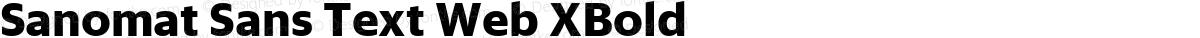 Sanomat Sans Text Web XBold