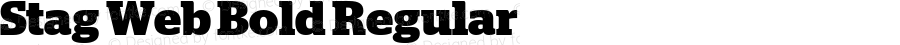 Stag Web Bold Regular Version 2.1 2011