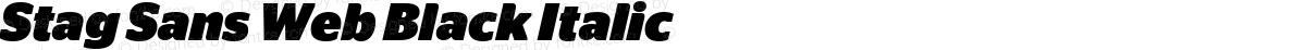 Stag Sans Web Black Italic