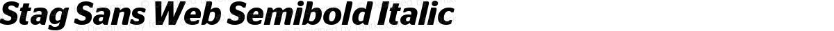 Stag Sans Web Semibold Italic