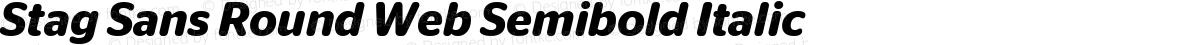 Stag Sans Round Web Semibold Italic