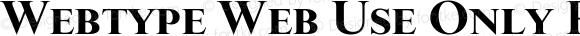 Webtype Web Use Only Regular