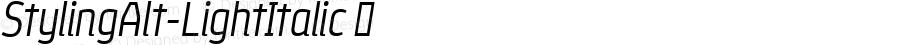 StylingAlt-LightItalic ☞ Version 1.000;com.myfonts.easy.los-andes.styling.alt-light-italic.wfkit2.version.4miB