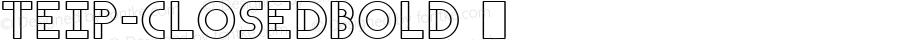 Teip-ClosedBold ☞ Version 1.001;PS (version unavailable);hotconv 1.0.70;makeotf.lib2.5.58329 DEVELOPMENT;com.myfonts.alex-jacque.teip.closed-bold.wfkit2.4coV