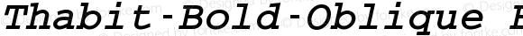 Thabit-Bold-Oblique Bold-Oblique