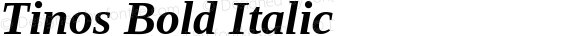 Tinos Bold Italic