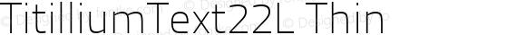 TitilliumText22L Thin