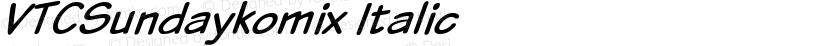 VTCSundaykomix Italic Preview Image