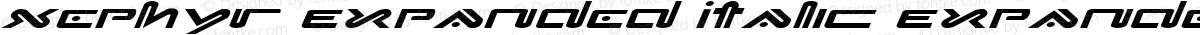 Xephyr Expanded Italic Expanded Italic