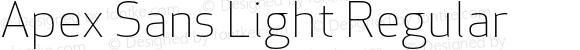 Apex Sans Light Regular Version 6.000 2007 revised OpenType release