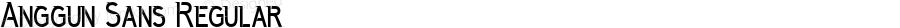 Anggun Sans Regular Version 1.000;PS 001.001;hotconv 1.0.56