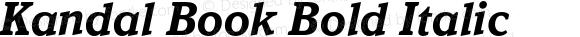 Kandal Book Bold Italic