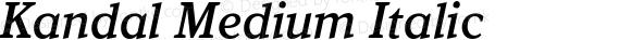 Kandal Medium Italic