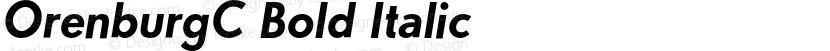 OrenburgC Bold Italic Preview Image