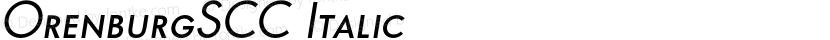 OrenburgSCC Italic Preview Image