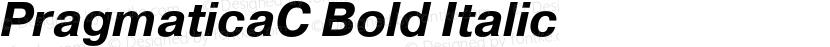 PragmaticaC Bold Italic Preview Image