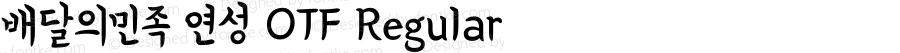 배달의민족 연성 OTF Regular Version 1.000;PS 1;hotconv 16.6.51;makeotf.lib2.5.65220