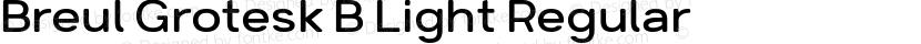 Breul Grotesk B Light Regular Preview Image