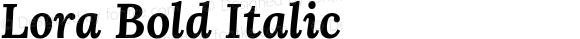 Lora Bold Italic
