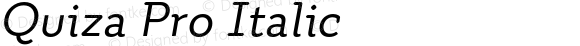 Quiza Pro Italic